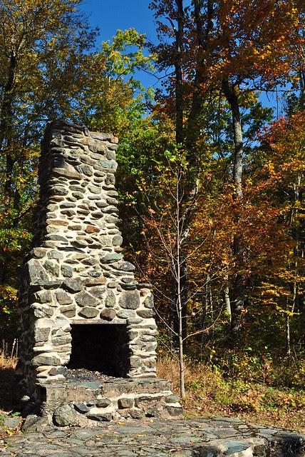 Camp Rapidan Fireplace