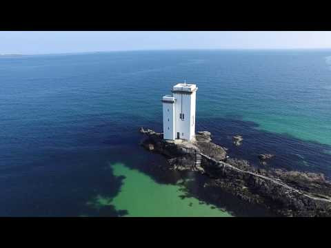 Islay's Carraig Fhada and Singing Sands from the air video