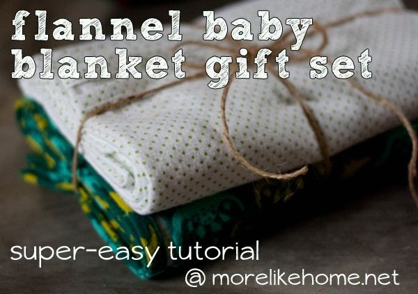 More Like Home Fast Amp Easy Flannel Baby Blanket Giftset