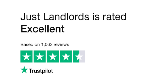 "Just Landlords is rated ""Excellent"" with 9.2 / 10 on Trustpilot"