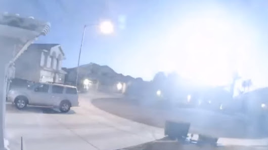 Asteroid explosion over Arizona floods sky with light 10 times brighter than the moon