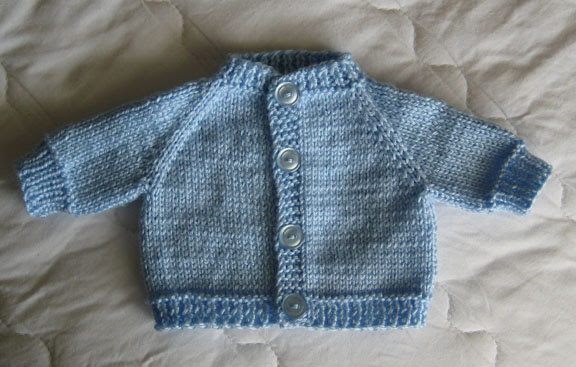 Knit Preemie Cardigan Sweater
