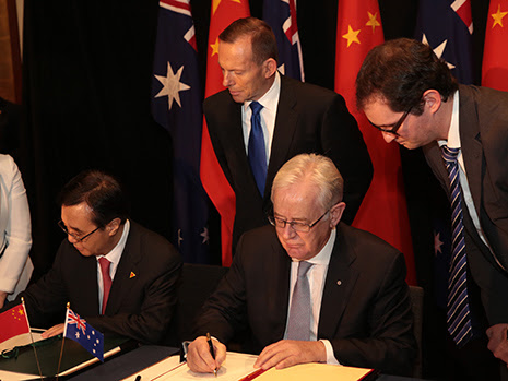 Australia, China ink landmark free trade deal - Mirage News