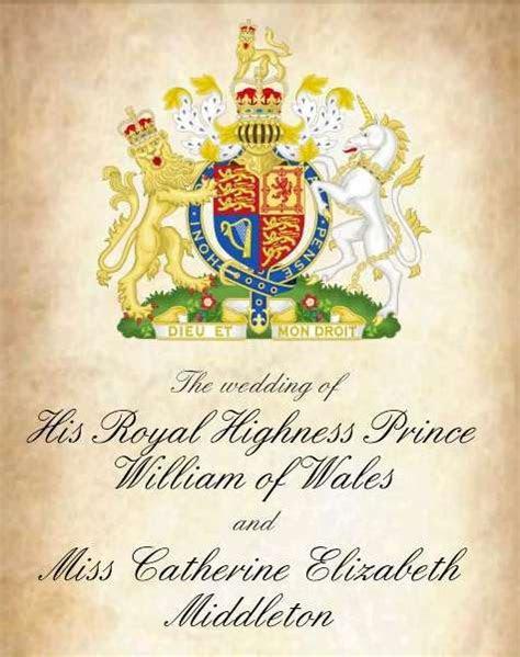 Prince William Kate Middleton Wedding Invitations