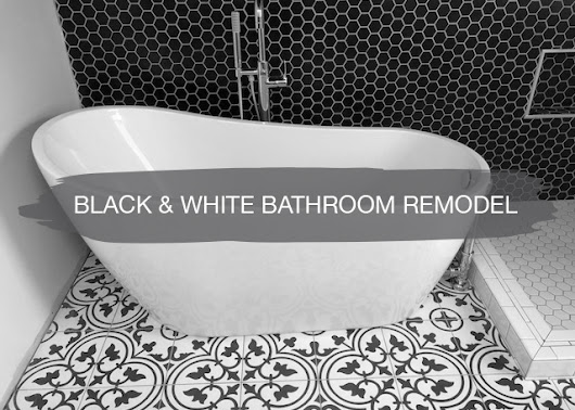 Black & White Bathroom Remodel | construction2style