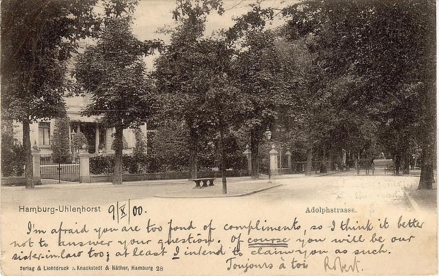 Ansichtskarte Adolphstrasse gestempelt 10.10.1900