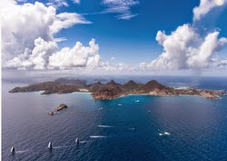 St Barths aerial view at eastern point of race course