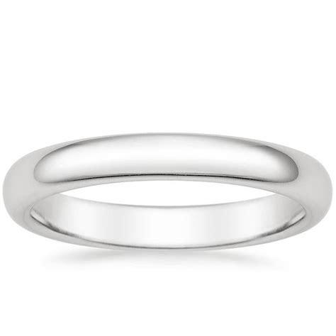 3mm Comfort Fit Wedding Ring in Platinum