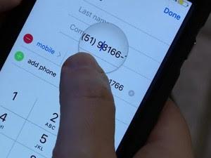 Números de celulares ganharam nono dígito no Rio Grande do Sul neste domingo (6) (Foto: Reprodução/RBS TV)