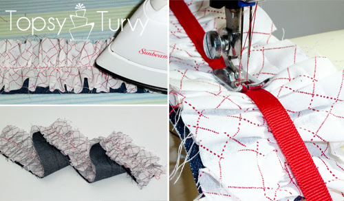 make your own ruffled camera strap ironing adding ribbon