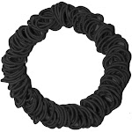 threddies Mini Ponytail Elastics (Black) 200 Piece Pack