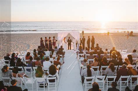 Beach Wedding Ceremony at Sunset   Beach Weddings at The