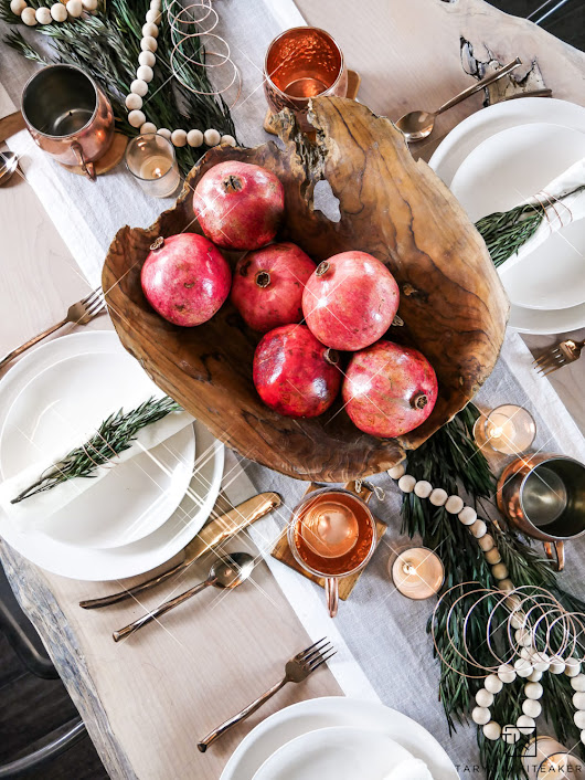Organic Modern Christmas Table - Taryn Whiteaker