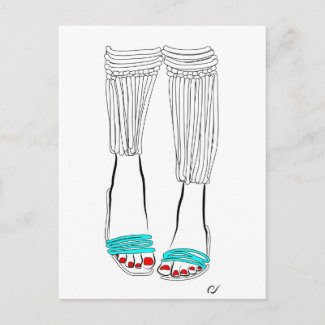 Turquoise Slippers zazzle_postcard
