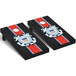 US Coast Guard Regulation Cornhole Game Set Onyx Stained Stripe Version