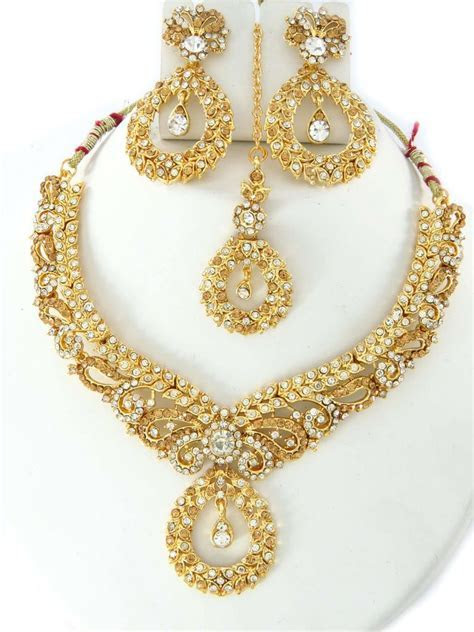 party wear jewellery designs; costume necklace set online