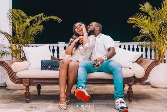 """Till Death Do Us Part"""" – Davido Sends Romantic Message With Flowers To Chioma From Rome"""