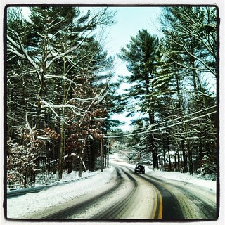 Drive to work this morning #winterwonderland #snow #newengland