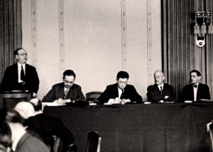 1936: réunion berlinoise de la Zionistische Vereinigung Deutschland (organisation sioniste en Allemagne - photo musée Yad Vashem)