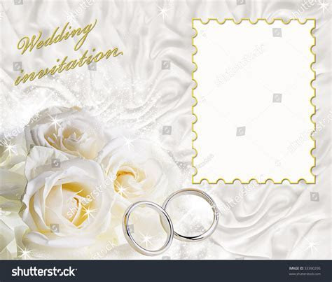 Card Wedding Invitation Frame Sample Text Stock