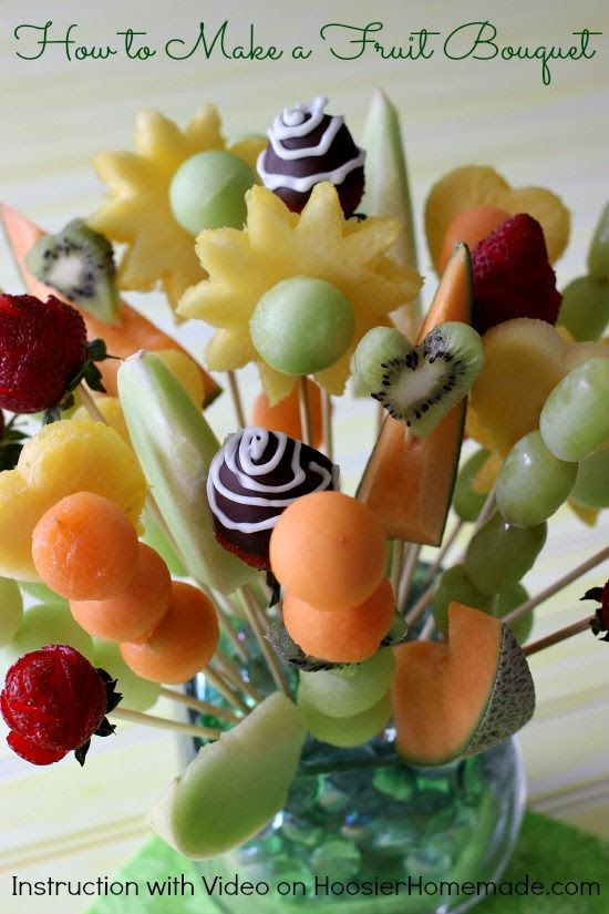 How to Make Fruit Bouquet   Instructions with Video on HoosierHomemade.com
