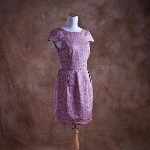 Lavender Pencil Dress - Floral Prom Dress - Ready to Ship