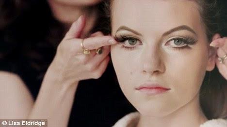Full eyes: The use of false eyelashes add to the seductive eye effect