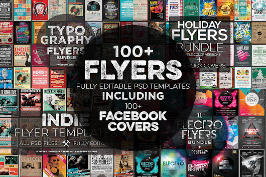 100+ Professional Flyer Templates and Facebook Covers - only $19!