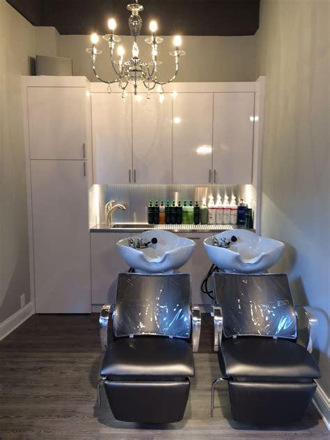 shampoo bowls  custom cabinets interiors salon