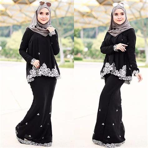 baju kurung doll saree hitam fesyen muslimah  carousell