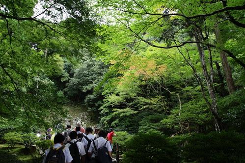 Walking up the hill behind Ginkakuji