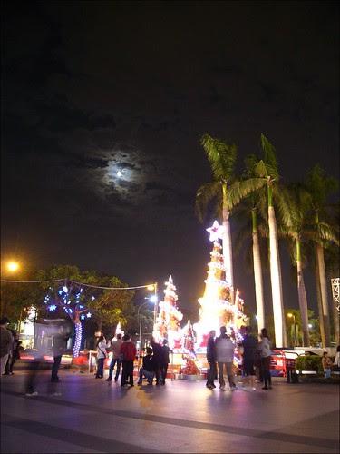 聖誕樹和月亮