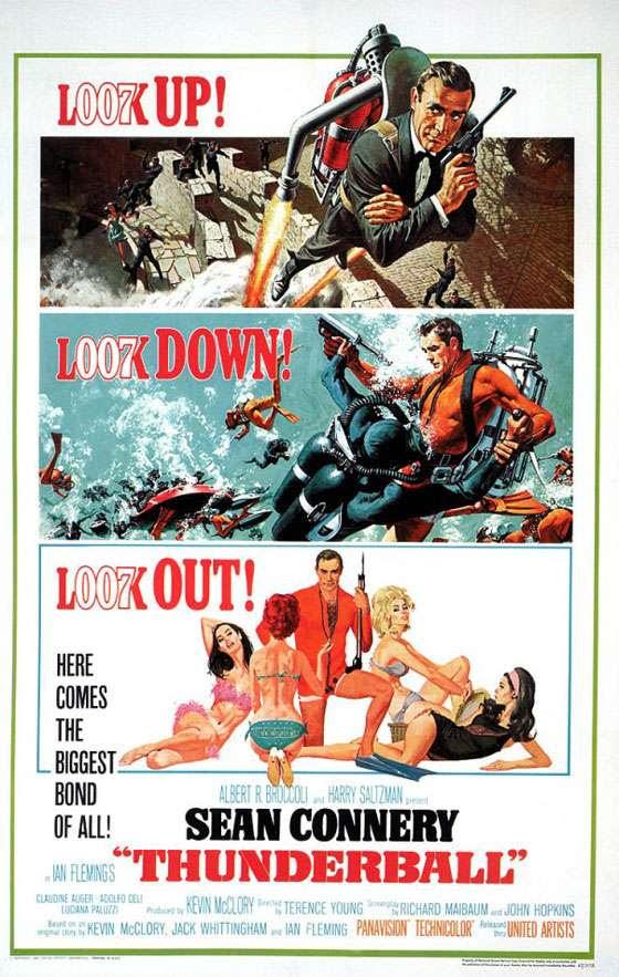 James Bond 007 Thunderball Poster