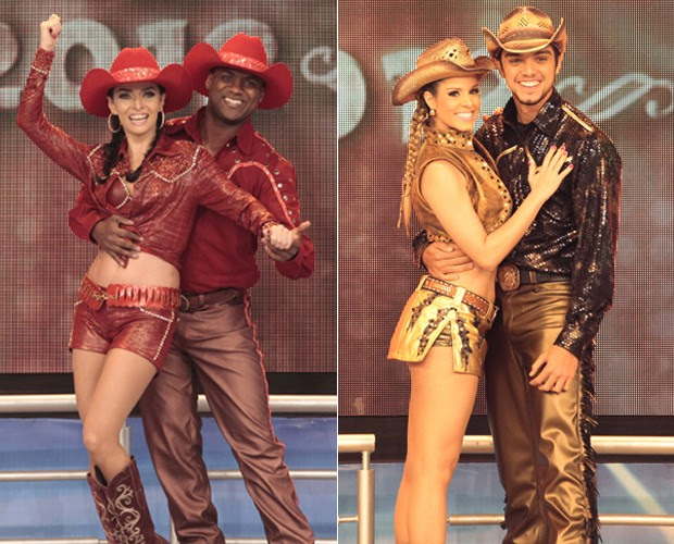 Claudia Ohana e Rodrigo Simas (Foto: Domingão do Faustão / TV Globo)