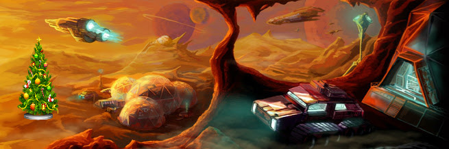 Sci-Fi Artwork from Gav's Website (with Christmas Tree)