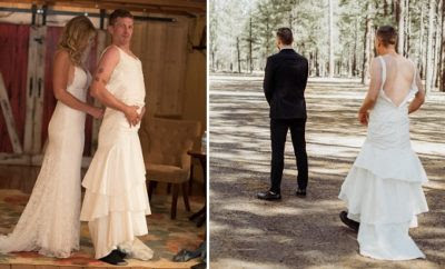 The Groom's a Nervous Wreck, So Bride Sends Brother in Wedding Dress for 'First Look' | What A Weddings