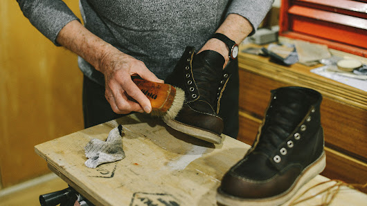 family traditions: pappy shines my shoes