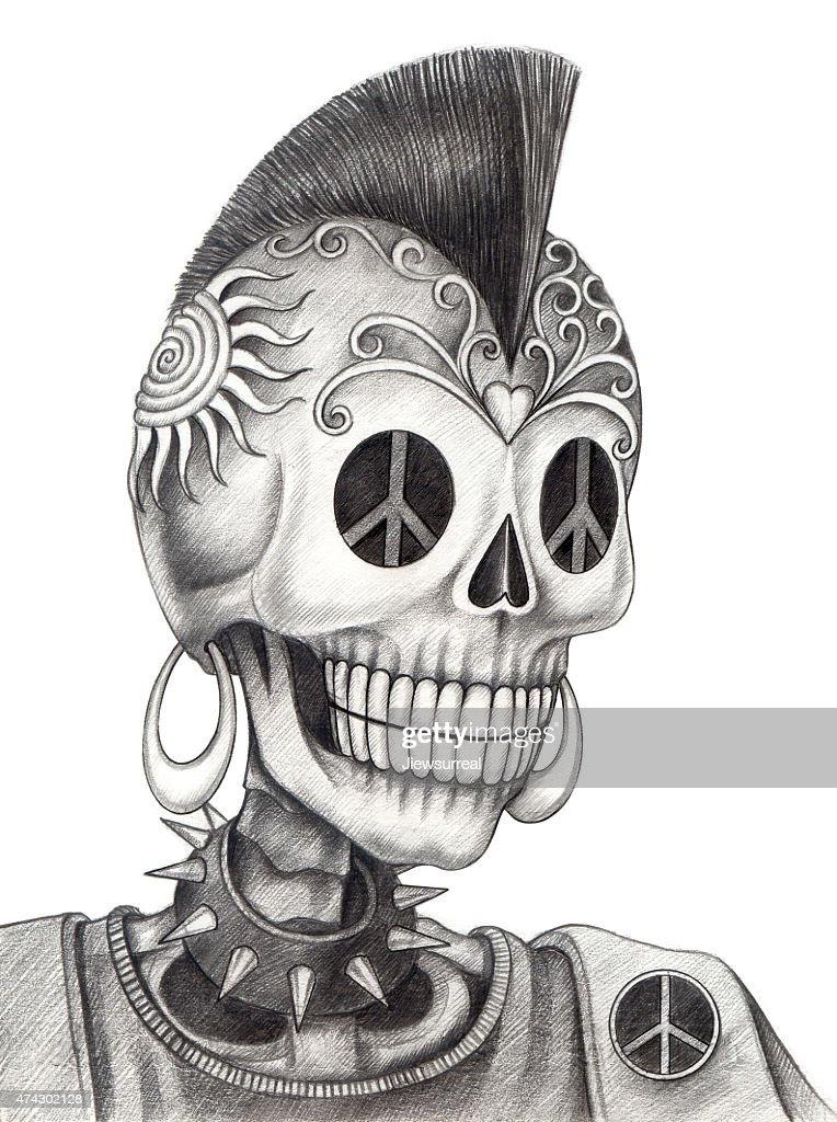 Muerto Dibujo Lápiz Imigen Arte Cráneo Wwwperfectoimagenescom