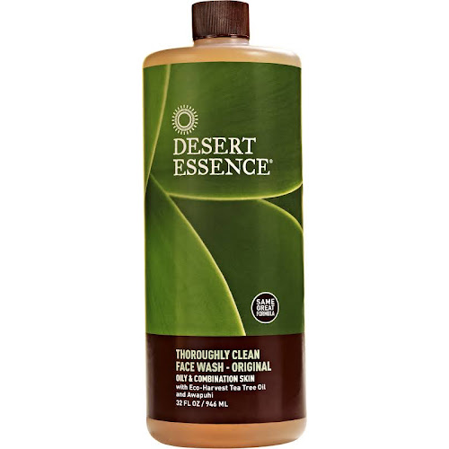 Desert Essence Thoroughly Clean Face Wash with Tea Tree Oil and Awapuhi - 32 fl oz bottle