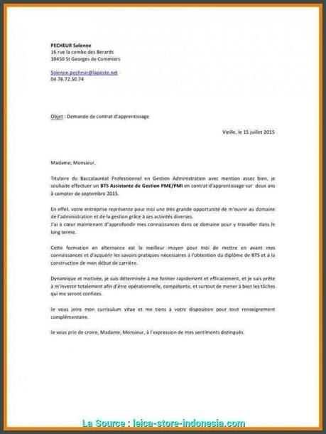 Lettre De Motivation Bts Assistant De Gestion Pme Pmi ...