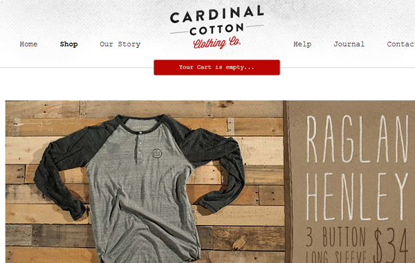 ecommerce shopping store online cardinal clothes cotton