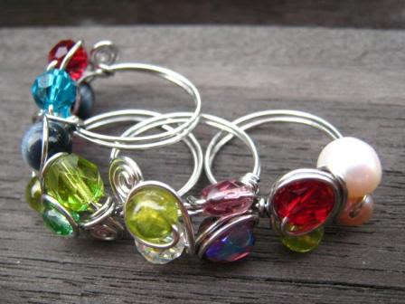 fruity wire wrapped rings