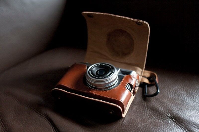 Genuine Real Leather Full Camera Case bag cover for FUJI