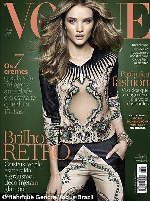 Cover Girl: Rosie recursos na edição de 2012 Abril da Vogue Brasil