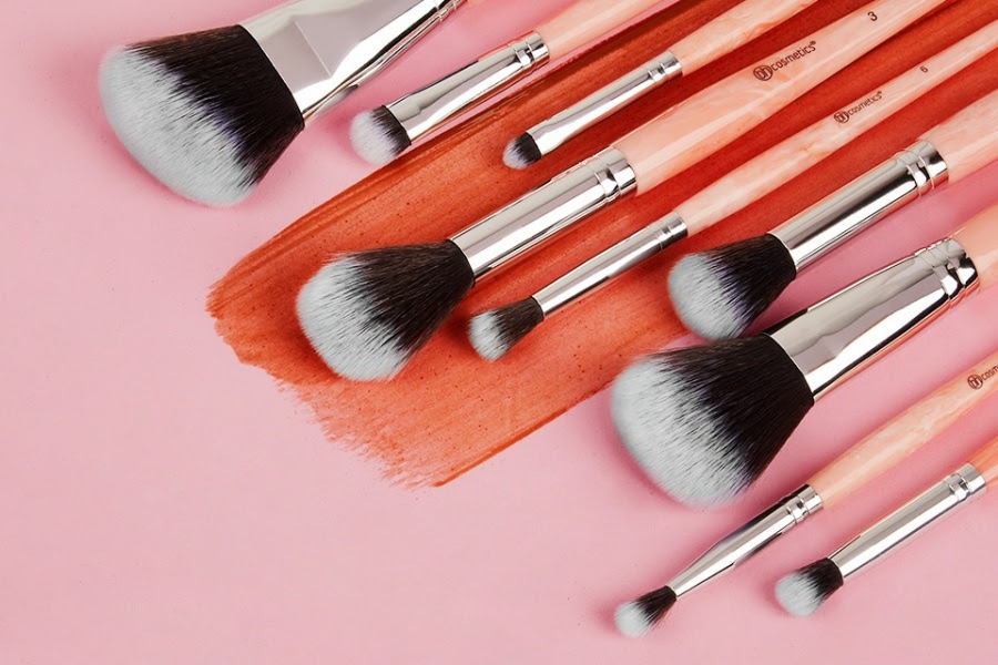 BH Cosmetics Rose Quartz – 9 Piece Brush Set