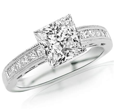 Houston Diamond District 2 Carat 14K White Gold Channel