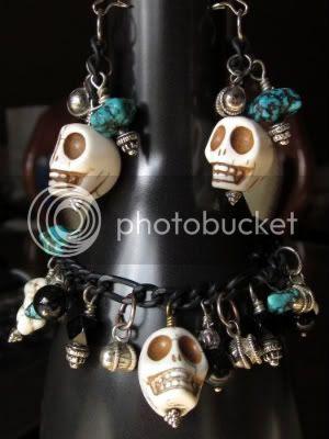 Dia De Los Muertos Bracelet and Earring Set by 123 Little Indians