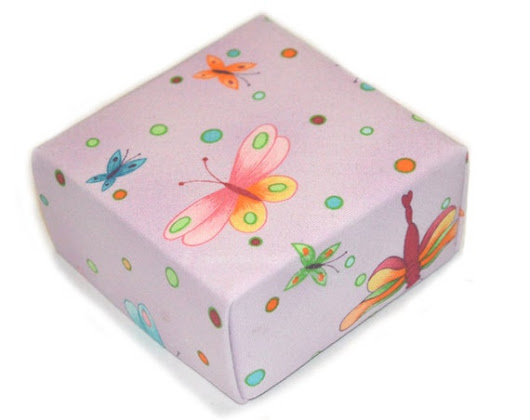 Lavender Chiffon Butterfly Treasure Box Perfect by BucktownStudio