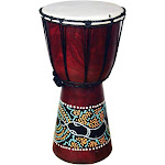 Stoneage Arts Handmade Jembe Drum with A Paint Dropper (Indonesia)