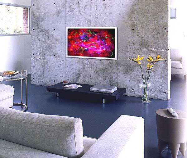 Interior design lighting ideas - Art Lights by UK textile artist